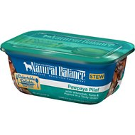 Natural Balance Delectable Delights Pawpaya Pilaf Stew Wet Dog Food, 8-oz, case of 12
