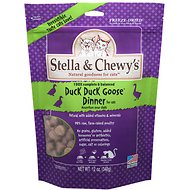Stella & Chewy's Duck Duck Goose Dinner Grain-Free Freeze-Dried Cat Food, 12-oz bag