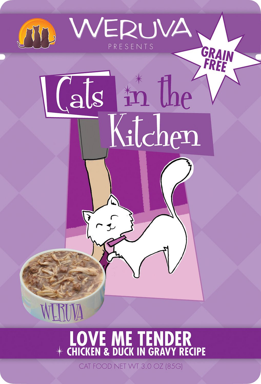 Weruva Cats In The Kitchen Love Me Tender Chicken Duck In Gravy Recipe Grain Free Cat Food Pouches 3 Oz Case Of 8 Chewy Com