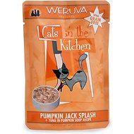 Weruva Cats in the Kitchen Pumpkin Jack Splash Tuna in Pumpkin Soup Recipe Grain-Free Cat Food Pouches, 3-oz, case of 8