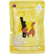 Weruva Cats in the Kitchen Pumpkin Lickin' Chicken in Pumpkin Soup Recipe Grain-Free Cat Food Pouches, 3-oz, case of 8