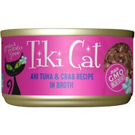 Tiki Cat Hana Grill Ahi Tuna with Crab in Tuna Consomme Canned Cat Food, 6-oz, case of 8