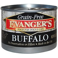 Evanger's Grain-Free Buffalo Canned Dog & Cat Food, 6-oz, case of 24