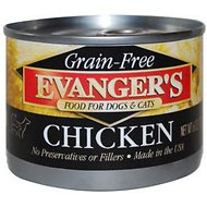 Evanger's Grain-Free Chicken Canned Dog & Cat Food, 6-oz, case of 24