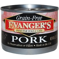 Evanger's Grain-Free Pork Canned Dog & Cat Food, 6-oz, case of 24