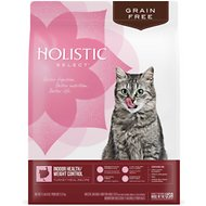 Holistic Select Grain-Free Indoor Health/Weight Control Turkey, Chicken & Herring Meals Recipe Dry Cat Food, 11-lb bag