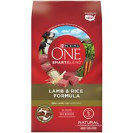 Purina ONE SmartBlend Lamb & Rice Formula Adult Premium Dry Dog Food, 31.1-lb bag