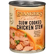 Evanger's Signature Series Slow Cooked Chicken Stew Canned Dog Food, 12-oz, case of 12