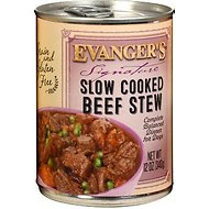 Evanger's Signature Series Slow Cooked Beef Stew Canned Dog Food, 12-oz, case of 12