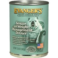 Evanger's Classic Recipes Senior & Weight Management Dinner Canned Dog Food, 12.8-oz, case of 12