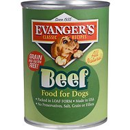 Evanger's Classic Recipes Beef Canned Dog Food, 12.8-oz, case of 12
