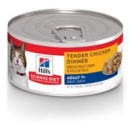 Hill's Science Diet Adult 7+ Tender Chicken Dinner Canned Cat Food, 5.5-oz, case of 24