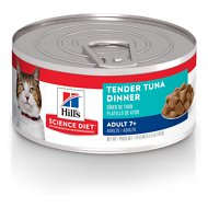 Hill's Science Diet Adult 7+ Tender Tuna Dinner Canned Cat Food, 5.5-oz, case of 24