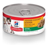 Hill's Science Diet Kitten Tender Chicken Dinner Canned Cat Food, 5.5-oz, case of 24