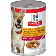 Hill's Science Diet Adult Savory Stew with Chicken & Vegetables Canned Dog Food, 12.8-oz, case of 12