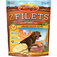 Zuke's Z-Filets Grilled Chicken Recipe Grain-Free Dog Treats, 7.5-oz