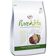 PureVita Duck & Oatmeal Formula Dry Dog Food, 25-lb bag