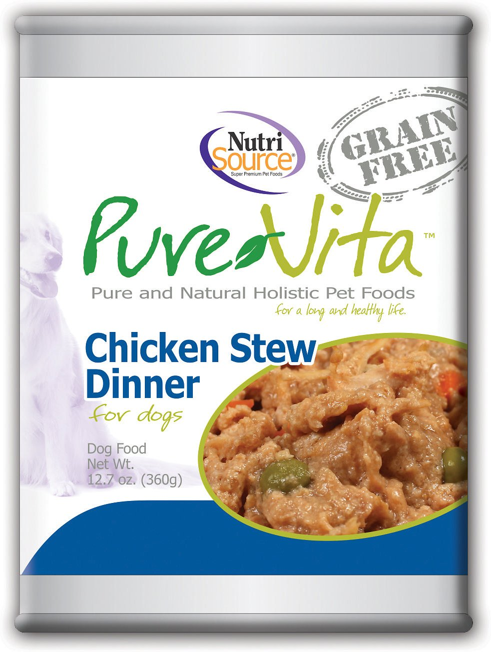 Purevita Grain Free Chicken Stew Dinner Canned Dog Food