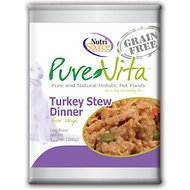 PureVita Grain-Free Turkey Stew Dinner Canned Dog Food, 12.7 oz, case of 12