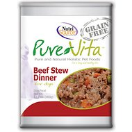 PureVita Grain-Free Beef Stew Dinner Canned Dog Food, 12.7 oz, case of 12