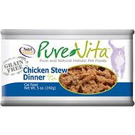 PureVita Grain-Free Chicken Stew Dinner Canned Cat Food, 5-oz, case of 12