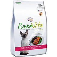 PureVita Grain-Free Salmon Entree Dry Cat Food, 2.2-lb bag