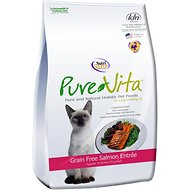 PureVita Grain-Free Salmon Entree Dry Cat Food, 15-lb bag