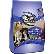 NutriSource Small & Medium Breed Puppy Chicken & Rice Formula Dry Dog Food, 6.6-lb bag