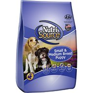 NutriSource Small & Medium Breed Puppy Chicken & Rice Formula Dry Dog Food, 35-lb bag