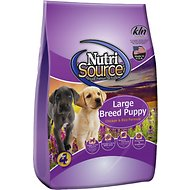 NutriSource Large Breed Puppy Chicken & Rice Formula Dry Dog Food, 6.6-lb bag