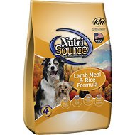 NutriSource Lamb Meal & Rice Formula Dry Dog Food, 33-lb bag