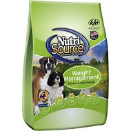 NutriSource Weight Management Chicken & Rice Formula Dry Dog Food, 30-lb bag