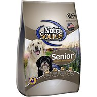 NutriSource Senior Chicken & Rice Formula Dry Dog Food, 30-lb bag