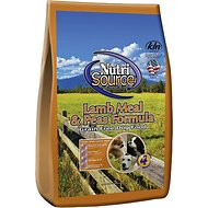 NutriSource Grain-Free Lamb Meal & Peas Formula Dry Dog Food, 30-lb bag
