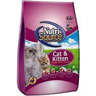 NutriSource Cat & Kitten Chicken & Rice Formula Dry Cat Food, 16-lb bag