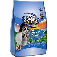 NutriSource Cat & Kitten Chicken Meal, Salmon & Liver Formula Dry Cat Food, 6.6-lb bag