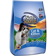 NutriSource Cat & Kitten Chicken Meal, Salmon & Liver Formula Dry Cat Food, 16-lb bag