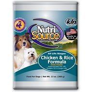 NutriSource Chicken & Rice Formula Canned Dog Food, 13-oz, case of 12