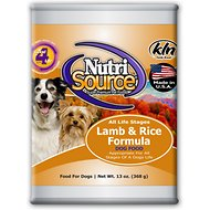 NutriSource Lamb & Rice Formula Canned Dog Food, 13-oz, case of 12