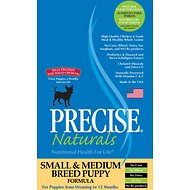 Precise Naturals Small & Medium Breed Puppy Formula Dry Dog Food, 15-lb bag