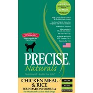 Precise Naturals Chicken Meal & Rice Foundation Formula Dry Dog Food, 30-lb bag