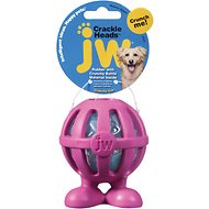 JW Pet Crackle Heads Cuz Dog Toy, Medium