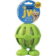 JW Pet Crackle Heads Cuz Dog Toy, Color Varies, Large