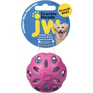 JW Pet Crackle Heads Ball Dog Toy, Color Varies, Small