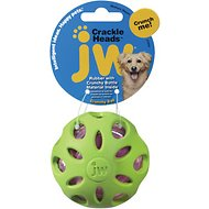 JW Pet Crackle Heads Ball Dog Toy, Medium