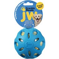 JW Pet Crackle Heads Ball Dog Toy, Large