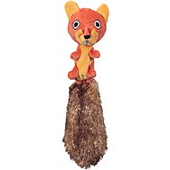 JW Pet Crackle Heads Skippy the Squirrel Dog Toy, Medium