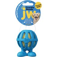 JW Pet Crackle Heads Cuz Dog Toy, Color Varies, Small