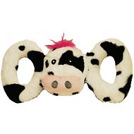 Jolly Pets Tug-a-Mals Cow Dog Toy, Large