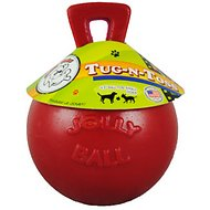 Jolly Pets Tug-n-Toss Dog Toy, Red, 4.5-inch